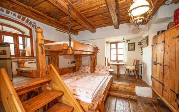 Třílůžkový pokoj, Domek kata Matěje, Český Krumlov