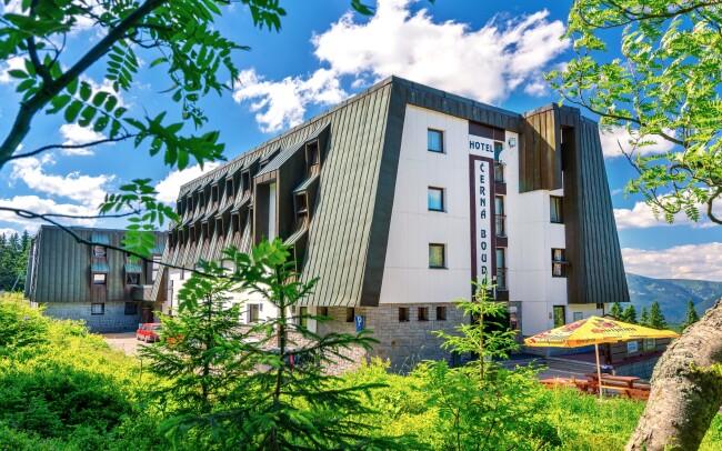 45% Krkonoše na vrcholu Černé hory s nádherným…