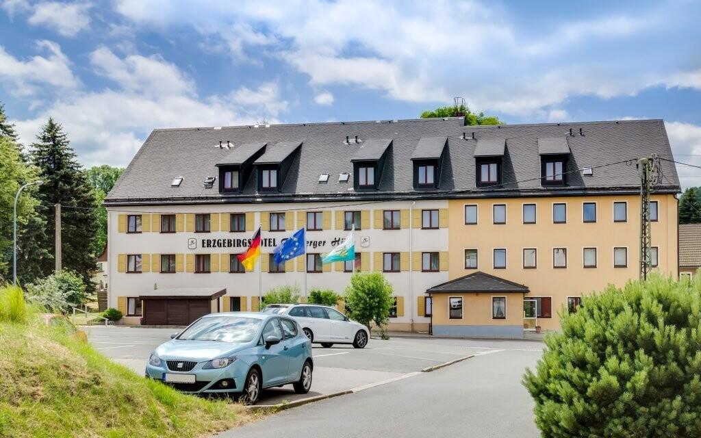 Ubytovanie v útulnom Erzgebirgshoteli Freiberger Höhe
