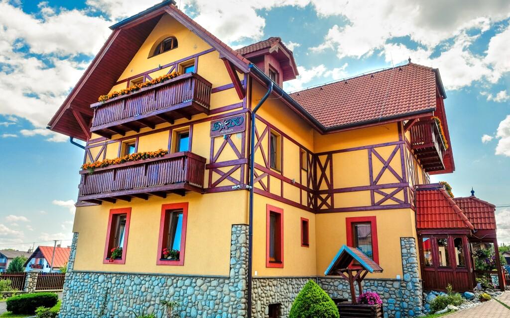 A Baďo Panzió a Magas-Tátra árnyékában épült