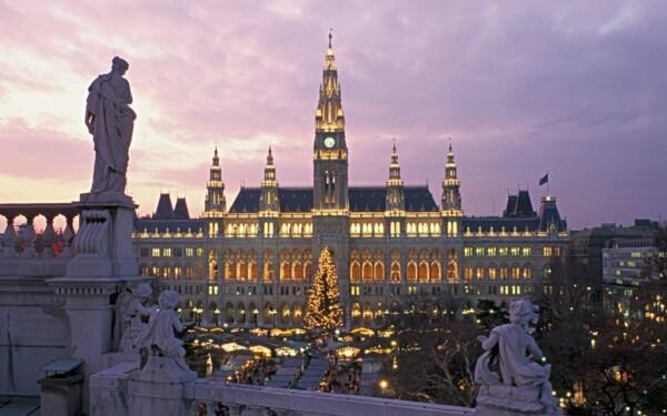 Viedeňská radnica a parlament
