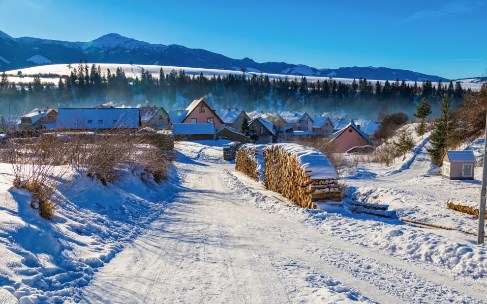 Lyžovanie, zima, Slovensko