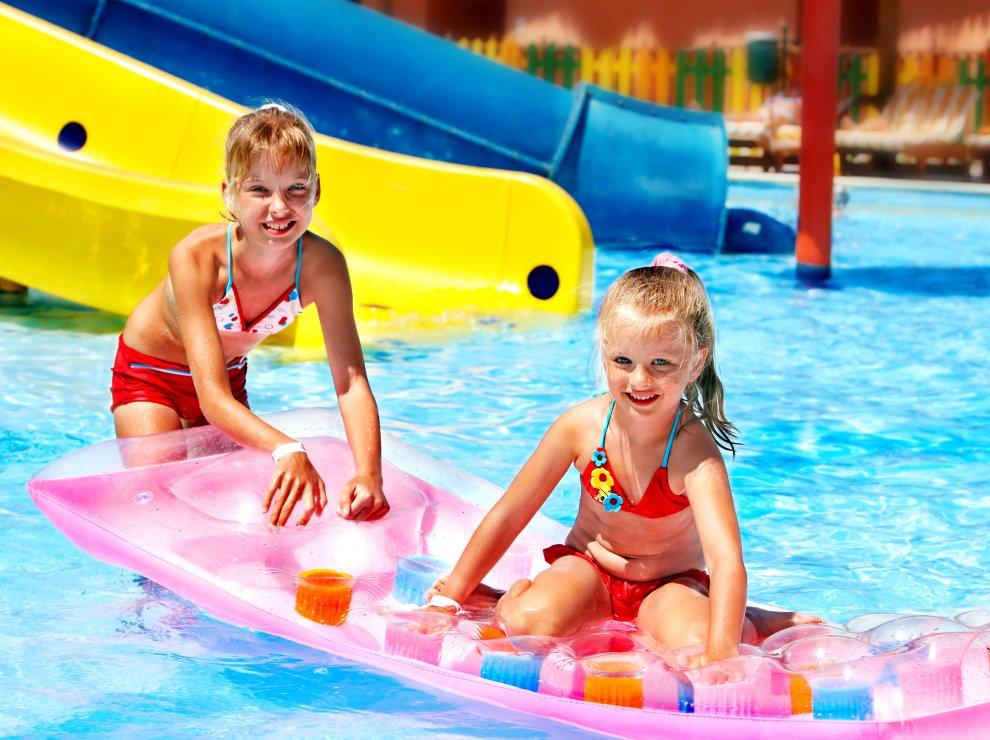 Aquapark, děti, léto