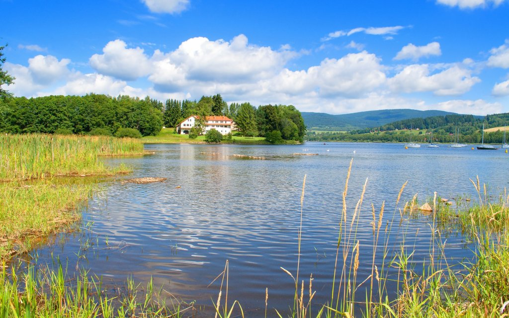 Lipno: Relaxace v Hotelu Hořice na Šumavě s polopenzí, vínem a zapůjčením kol